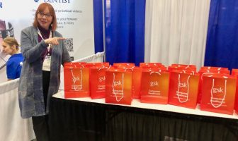 Verena and GSK bags at Greater NY Dental Convention